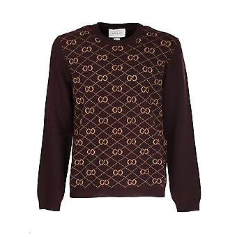 Gucci 626288xkbfb2100 Men's Brown Wool Sweater
