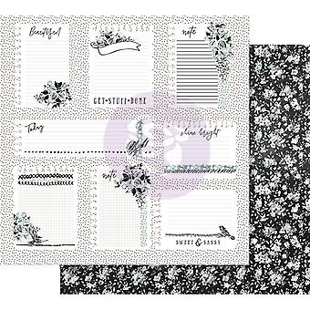Prima Marketing Flirty Fleur 12x12 pulgadas paquete de papel pequeñas notas