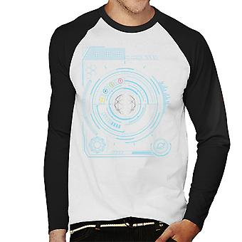 The Crystal Maze Blue Display Men's Baseball Long Sleeved T-Shirt