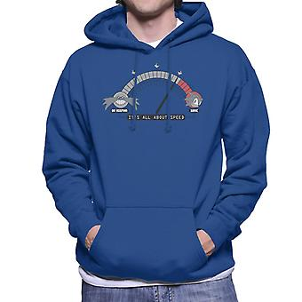 Sonic The Hedgehog Its All About Speed Men's Hooded Sweatshirt