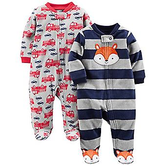 Simple Joys by Carter's Baby Boys' 2-Pack Fleece Footed Sleep and Play, Navy ...