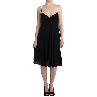 Galliano Black Jersey A-Line Dress -- SIG1628613