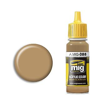 Ammo by Mig Acrylic Paint - A.MIG-0088 Khaki Brown (17ml)