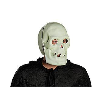 Maschera a pieno facciale del cranio dopo accessorio brillante spirito Carnevale