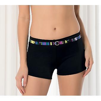 Aqua Perla Womens Elegance Black Bikini Bottom