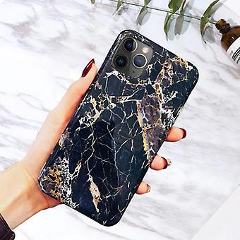 Moskado iPhone XR caso mármol textura - funda brillante a prueba de golpes Cubierta de granito Cas TPU