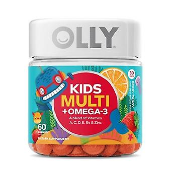 Olly Kids Multivitamins Omega-3 Berry Tangy Gummies