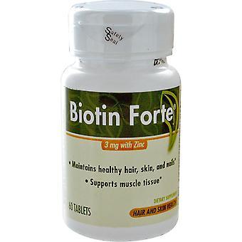 Thérapie enzymatique, Biotine Forte au zinc, 3 mg, 60 comprimés