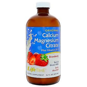 LifeTime Vitamins, Calcium Magnesium Citrate, Strawberry, 16 fl oz (473 ml)