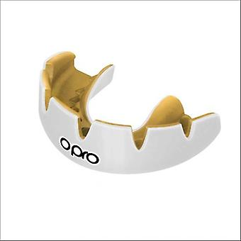 Opro power fit braces mouth guard white/gold