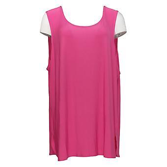 Attitudes by Renee Women's Plus Top Como Jersey Tuni Tank Pink A371699