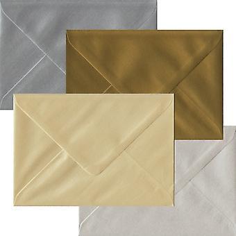 Metallisk Pack 100 C6 gummierede konvolutter-fire metalliske farver