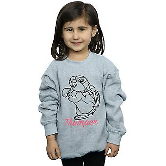 Disney Tytöt Bambi Thumper Line Piirustus Collegepusero
