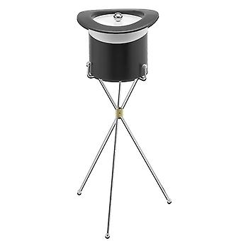 Top Hat I.B.W /Chrome Band Bucket With Metal Stand