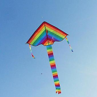 Colorful Rainbow Kite Long Tail Nylon Outdoor Kites Flying (as Photo Shows)