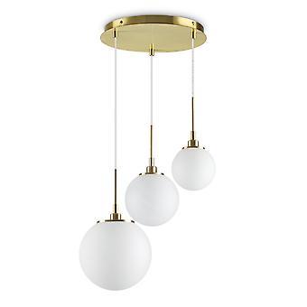 ideell lux drue - innendørs globe cluster tak anheng lampe 3 lys hvit, G9