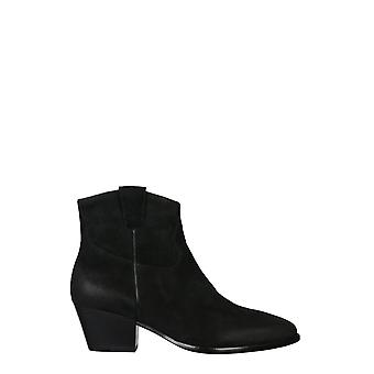 Ash Houston04 Frauen's schwarze Leder Stiefeletten