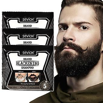 Beard Hair Shampoo For Fast Hair Blackening