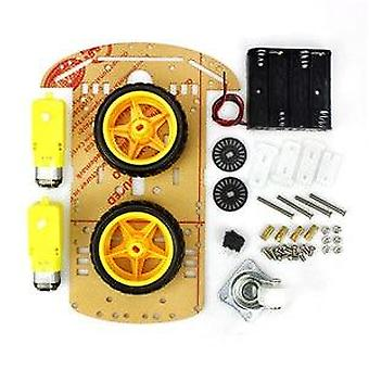 4/2wd Robot Smart Car Chassis Kits With Speed Encoder For Arduino  For Student Kids