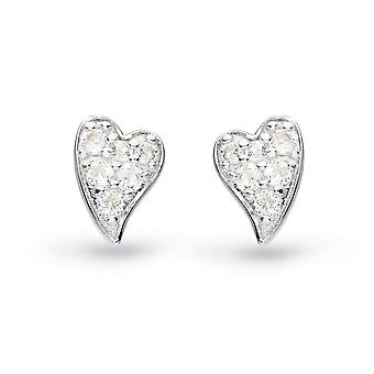 Kit Heath Desire Precious White Topaz Heart Stud Boucles d'oreilles 30505WT