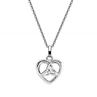 التراث الاسترليني الفضة سلتيك ثلاثية قلادة القلب 92029HP