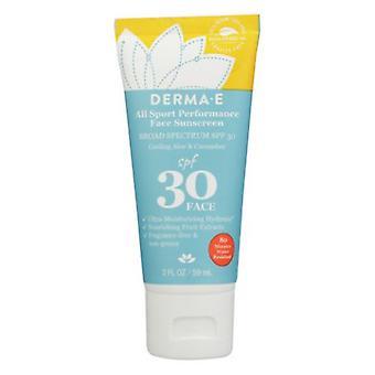 Derma e All Sport Performance Face Sunscreen SPF 30, 2 Oz