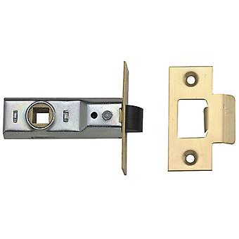 UNION Tubular Mortice Latch 2648 Latão Polido 64mm 2.5in Visi UNNY2648PL25