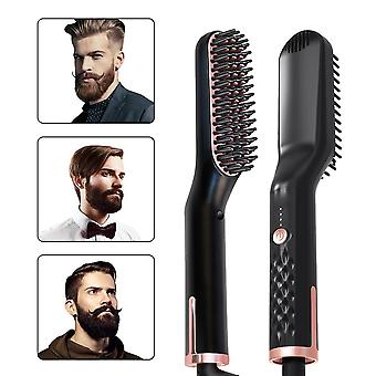 PTC Chauffage Hair Lisserer Brosse Peigne Soins personnels Smooth Men's Styling Shape Anti Static Fluffy Straight Beard Comb