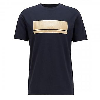 Boss Green Hugo Boss Teeonic Block Logo T-Shirt Navy 50435898