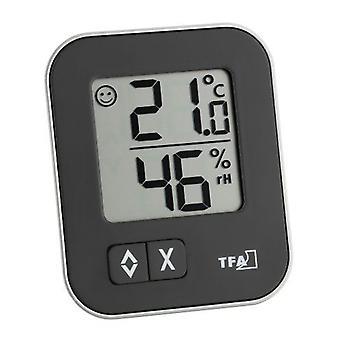 TFA Dostmann Moxx Digital Thermo-Hygrometer, Multi-Colour, 9.9 x 7.5 x 2.6 cm