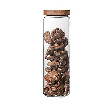 Bamboo Lid Glass Airtight -canister Storage Bottles