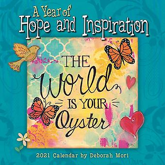 2021 a Year of Hope and Inspiration Mini Calendar by Deb Mori