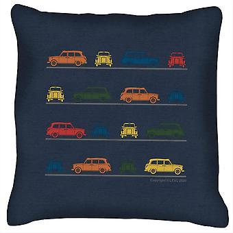 London Taxi Company TX4 Vinklad färgglada Montage Kudde
