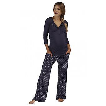 The Essential One Maternity Long-sleeve Heart Print Nursing Pyjamas