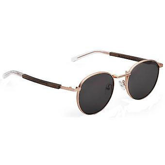 Take a Shot Janis Sunglasses - Rose Gold/Brown
