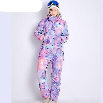 Magic Waterproof One-piece Skiing Jumpsuit Women Snowboard Snow Winter Clothing