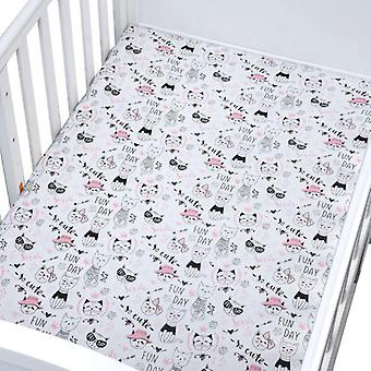 Bed Fitted Sheet, Crib Triangle Design Bedding Protector