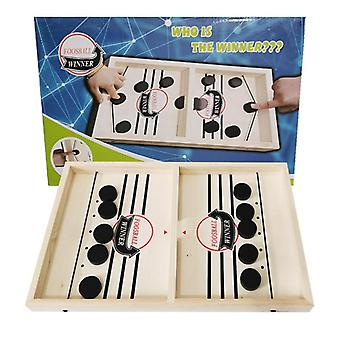 Table Fast Hockey Sling Puck Game, Paced Winner, Fun For Adult, Child Family,
