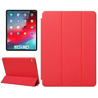 Horizontal Flip Solid Color Leather Case for iPad Pro 12.9 inch (2018), with Three-folding Holder & Wake-up / Sleep Function(Red)