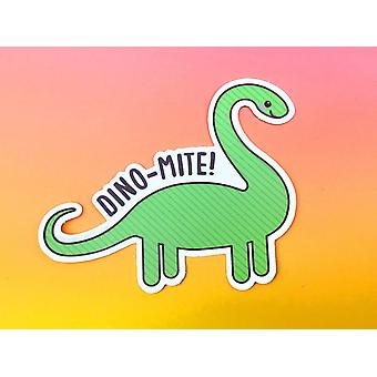 Dino-mite-dinosaur Vinyl Sticker