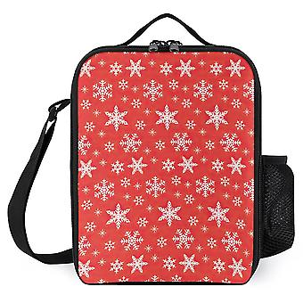 Christmas Pattern Printed Lunch Bags Women Kids Xmas Idea