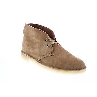 Clarks Desert Boot Mens Brown Suede Lace Up Desert Boots
