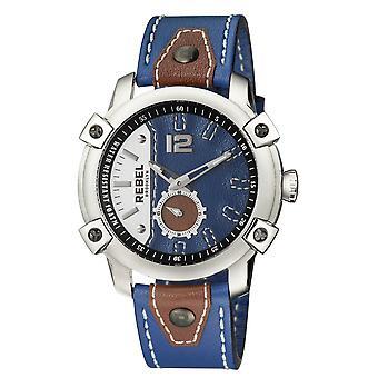 Rebel Men's Weeksville Navy Dial Leather Watch