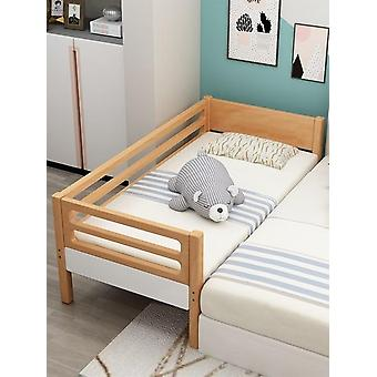 Solid Wood's Bedwith Guardrail Widening Small Bedside Bed Baby Stitching Large