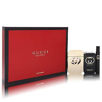 Gucci Guilty Pour Femme Gift Set Av Gucci 2,5 oz Eau De Toilette Spray + 3,3 oz Body Lotion + 0,25 Mini EDT Spray
