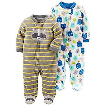 Simple Joys af Carter's Baby Boys' 2-Pack Fleece Footed Sleep and Play, Monst...