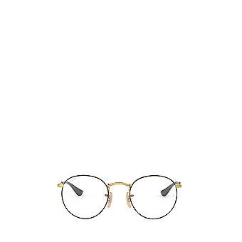 Ray-Ban RX3447V kultaa päällä musta unisex silmälasit