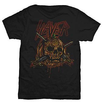 Slayer Skull Pumpkin Official Tee T-Shirt Unisex