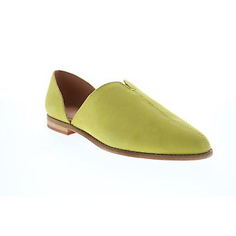 Frye & Co. Fenn Dorsay  Womens Green Suede Loafer Flats Shoes