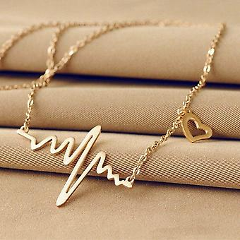 Alloy Women's Power Gold Color Crystal Necklace